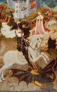 Saint George Killing the Dragon, 1434/35, byMartorell