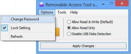 Ratool lock the settings