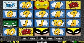 Top Superhero movies inspired slot machines
