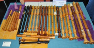 recorders at exhibition