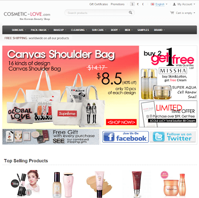 Online Shopping Experience - Cosmetic-Love.com