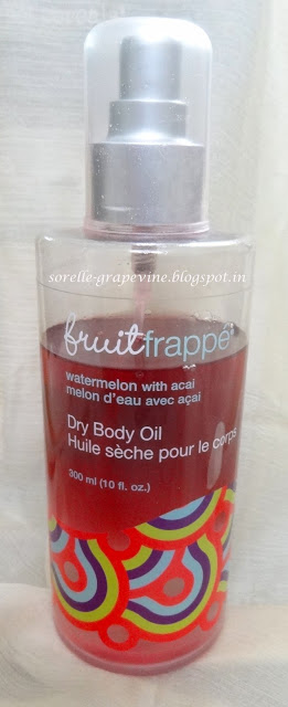 Faces Fruit Frappe Dry Body Oil Watermelon with Acai - Review