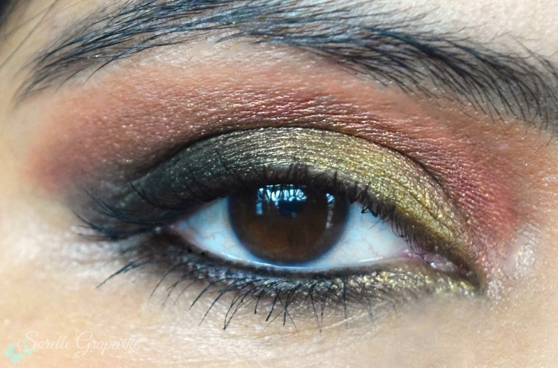Festive makeup look, Rust Gold Makeup Tutorial