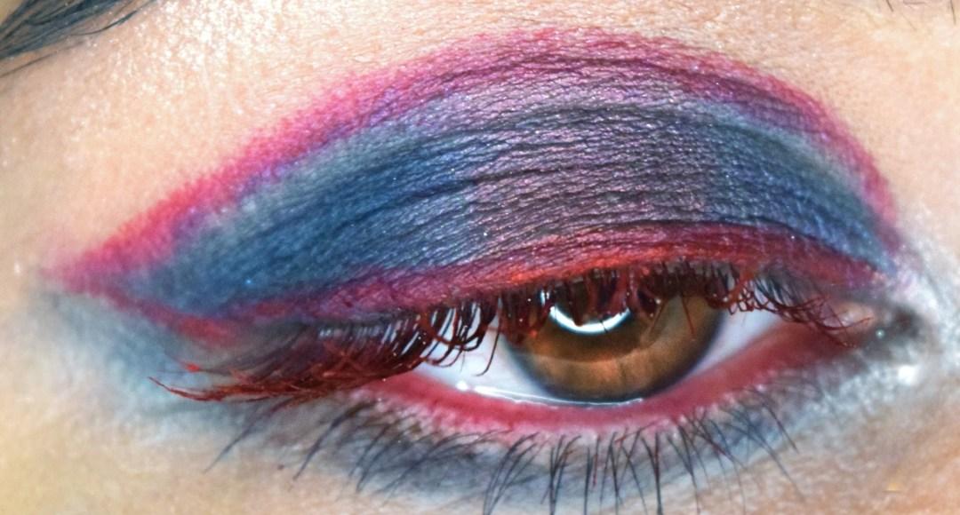 Captain America Inspired Eyemakeup