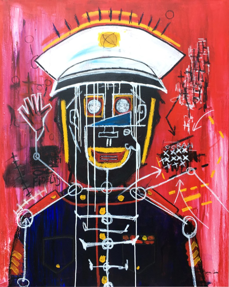 the-marine-and-cop_48x60