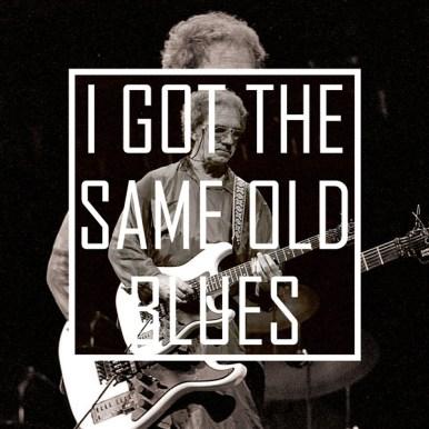 I got the same old blues