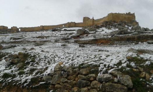 Castillo de Gormaz con nieve