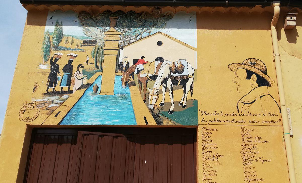 Mural Fuente de la copa de Mariano las Heras