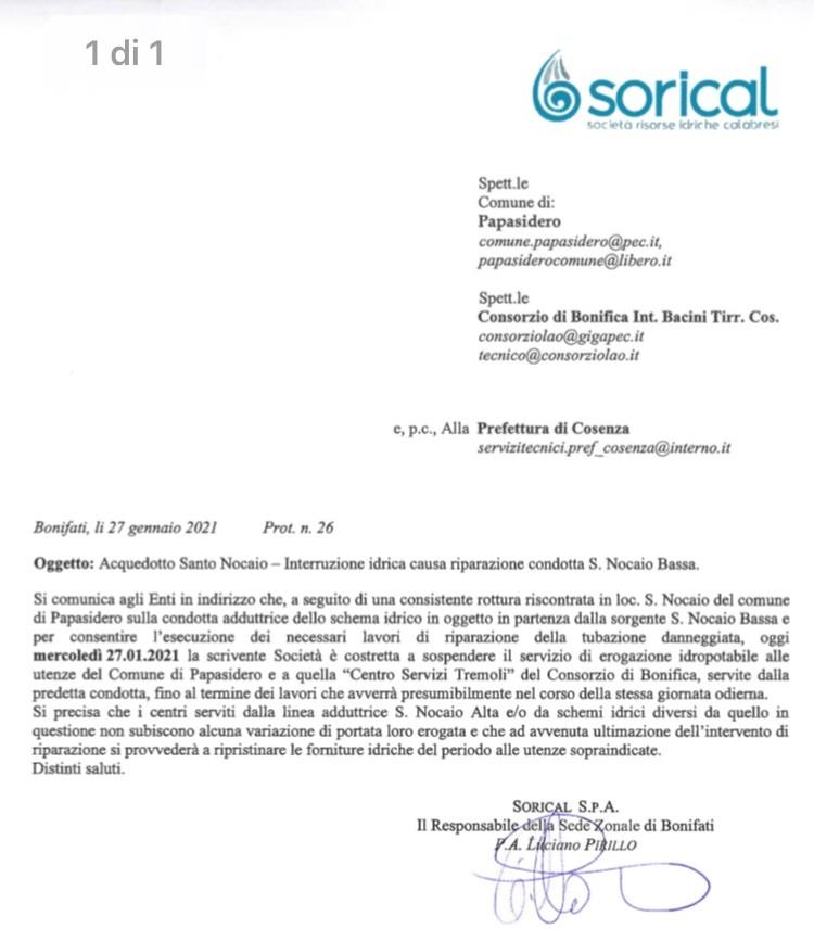 Interruzione acquedotto Santo Nocaio img 6066