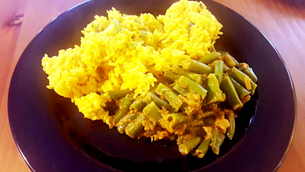 Curry de fasole verde
