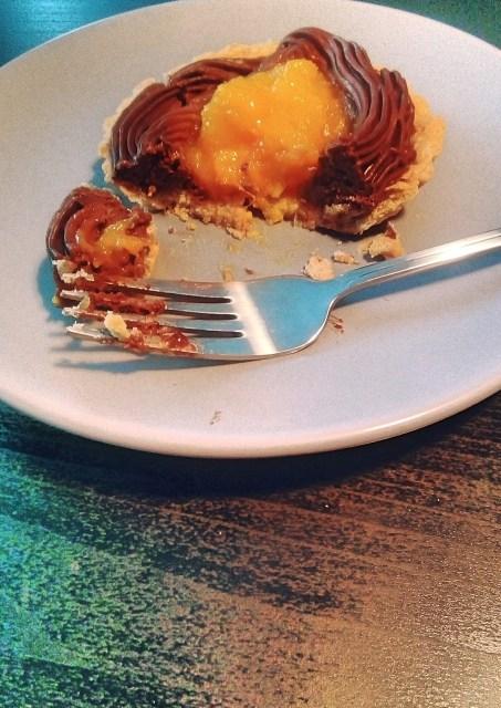 Mini tarta cu ganache