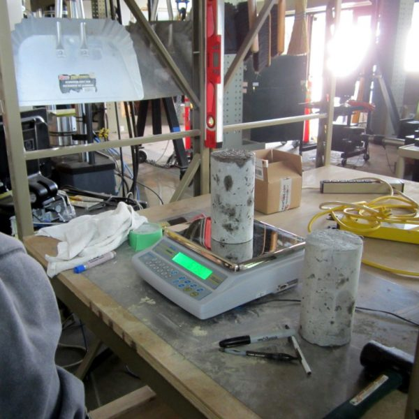 2015  Materials Testing - Concrete Testing specimens 1