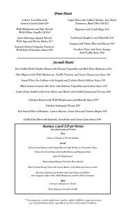 Sorrento Houston's finest Italian Lunch Menus