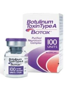 frasco de botox para o tratamento do ronco