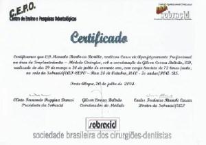diploma marcelo barboza borille apercfeiçoamento implantodonttia módulo cirurgico