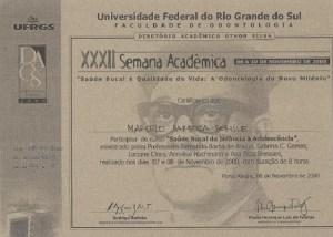 diploma marcelo barboza borille participou do curso saude bucal da infância à adolescencia