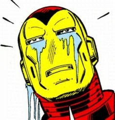 Iron Man is sad.