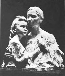 "Sculptor: Clara Pfeiffer Garrett. ""Mother and Daughter."" Public domain."