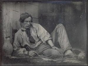 """Photo: Louis Adolphe Humbert de Molard. """"Louis Dodier as a prisoner, 1847."""" Public domain."""