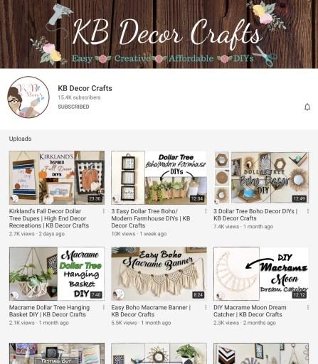 KB Decor Crafts DIY