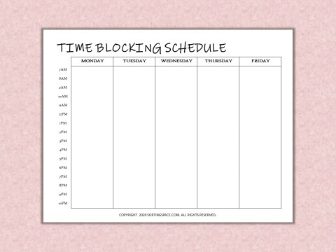 Time Blocking Schedule