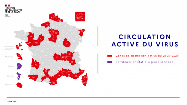 Map of France Covid on September 12: 77 departments in vulnerable situations