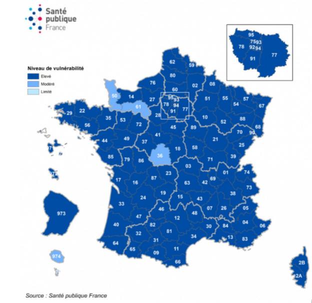 Mapa de Francia Covid el 27 de octubre, 33,417 nuevos casos en 24 horas
