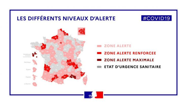 Map Of France Coronavirus Vulnerable Departments Red And Scarlet Zone World Today News