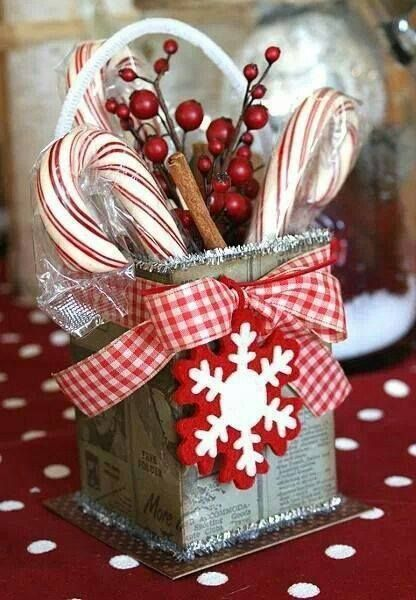Candy Cane Inspired Christmas Decorations