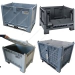Plastic bins for food and technical products