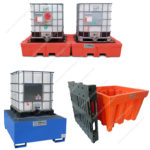 Containment tanks for 1000 liters IBC containers