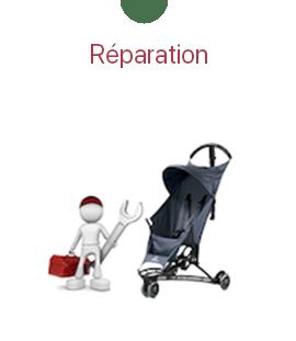 Réparation de poussette