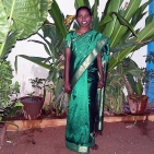 Esakkiammal in her saree