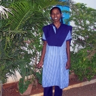 Esakkiammal in school uniform