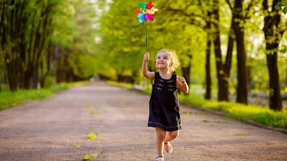 Girl-pinwheel