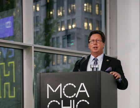 Bruce Marcheschi giving a talk