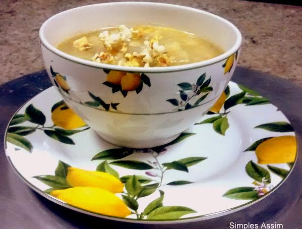 sopa de couve flor e gorgonzola