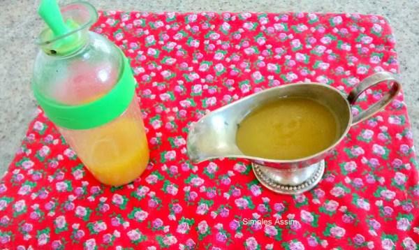 molho de mostarda e mel
