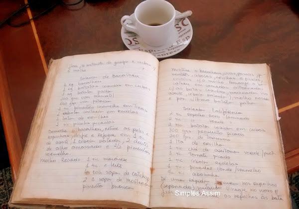 Esse é meu caderninho com mais de 30 anos...