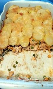 torta diferente de frango com batatas