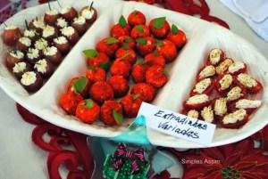Uvas recheadas, tomatinhos com ricota e maçazinhas feita com queijo são deliciosas opções de entradas
