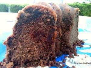 Esse bolo de chocolate e vinho é delicioso