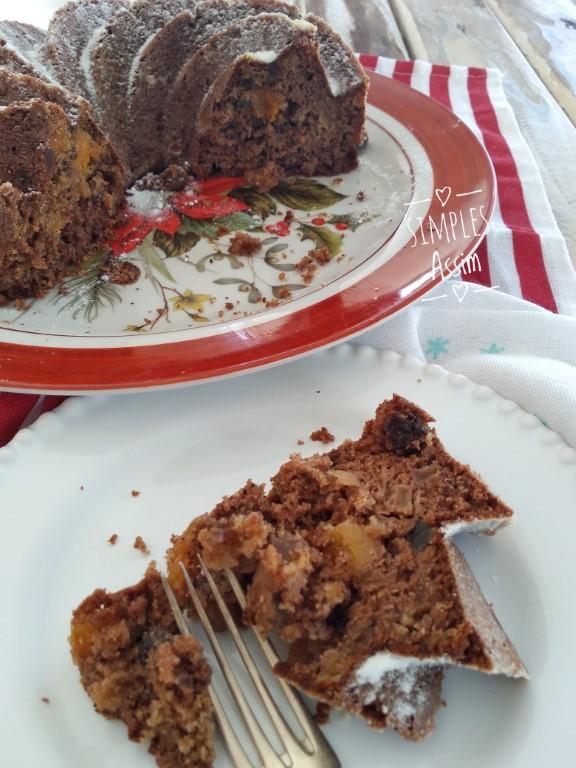 Esse bolo de frutas frescas e secas é lowcarb e muito saudável