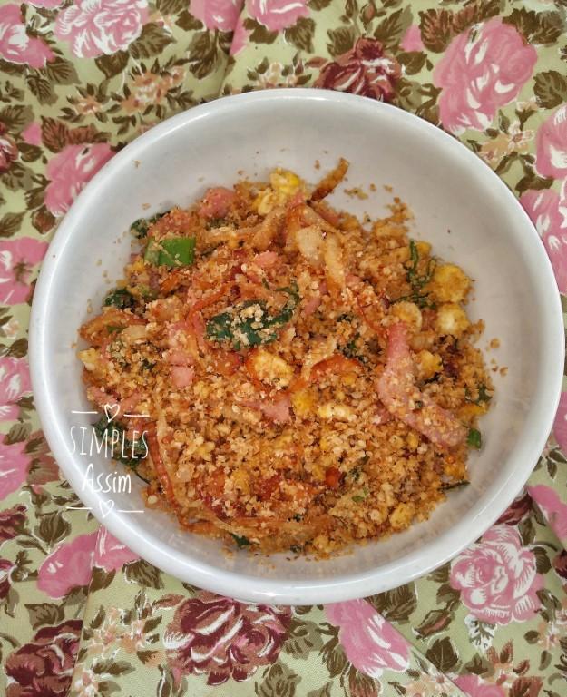 Essa farofa nutritiva de aveia é muito saudável e gostosa.