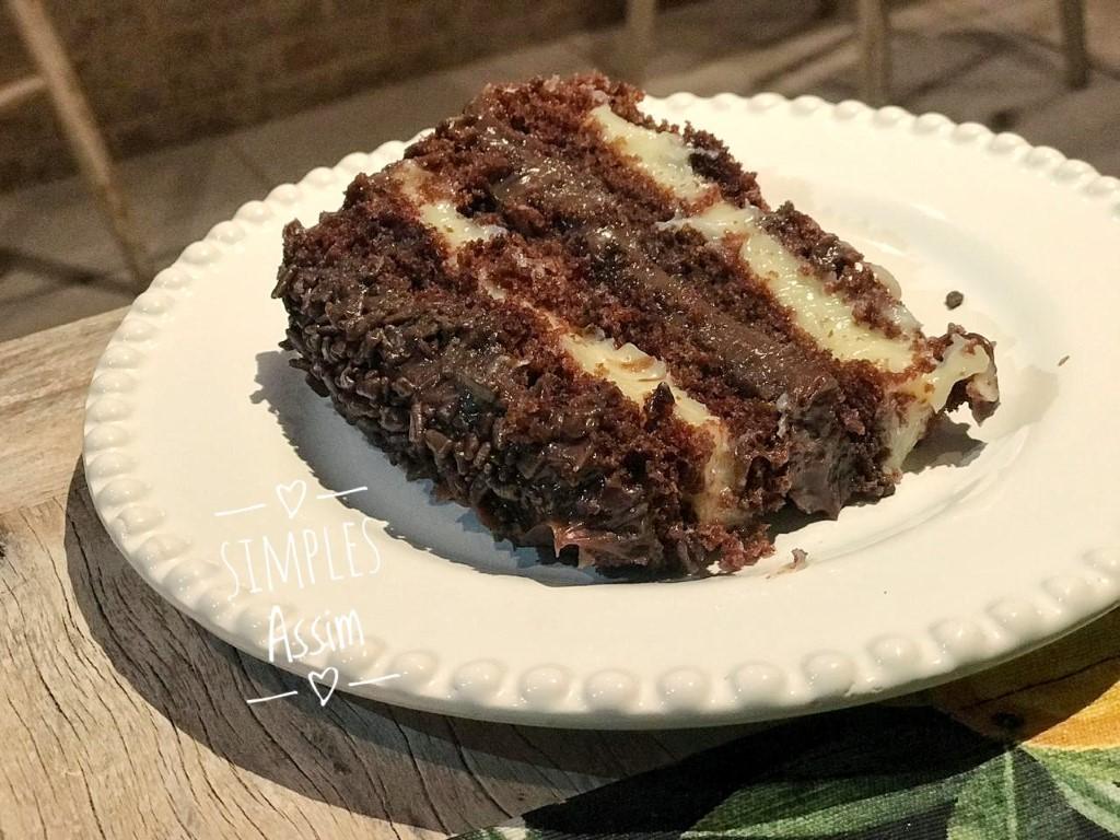 Esse bolo de choolate gourmet é perfeito.