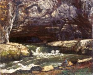 Gustave Courbet, La grotte Sarrazine, 1864, huile, 46 x 55 cm