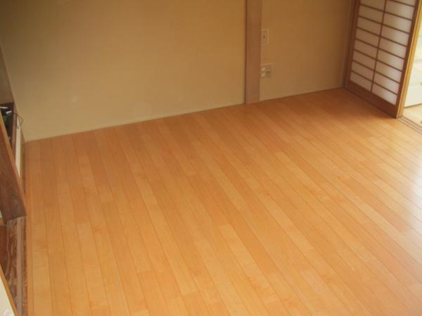 段差解消 和室 畳から フローリング に リフォーム 工事後