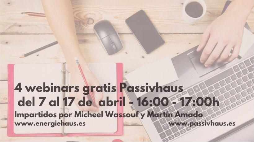 Webinars abiertos y gratuitos Passivhaus