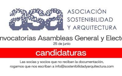 Candidaturas para Junta Directiva ASA