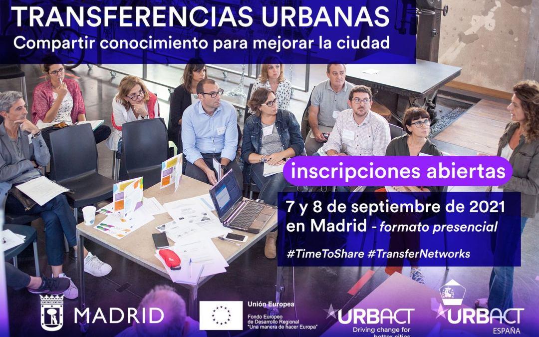 Jornadas URBACT a escala nacional de «Transferencias Urbanas»